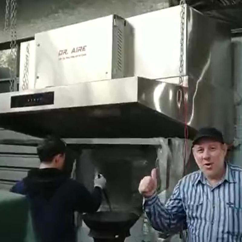 Kazakhstan Customer Review on Hood Type Electrostatic Air Cleaner Performance