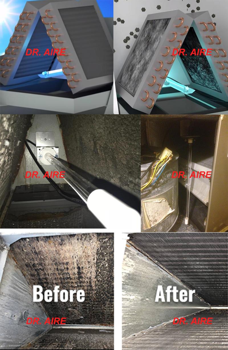 UV-C Germicidal Lamp UVGI For  HVAC Coils Disinfection