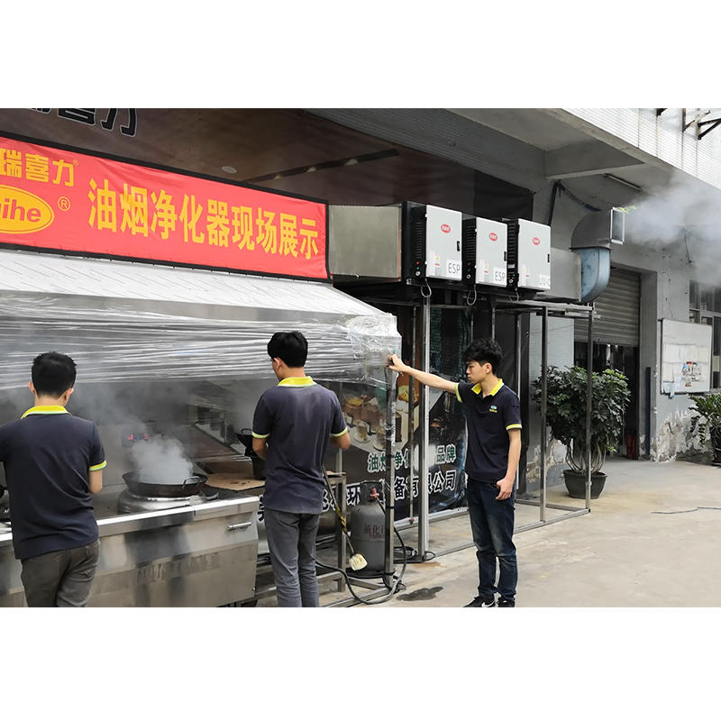 Double Pass Electrostatic Precipitator W/ UV-C Filter Grease Smoke Removal Performance - Over 98% Removal Rating at Low Altitude Air Emission Level
