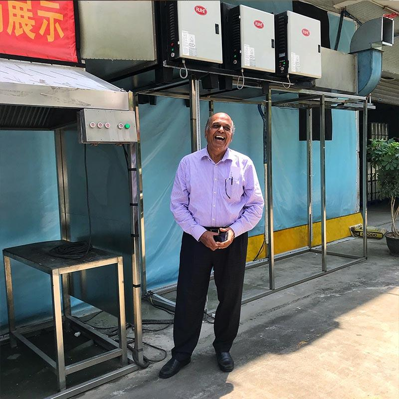 India Customer Checked Double Filtration Stages Electrostatic Air Cleaner Performance
